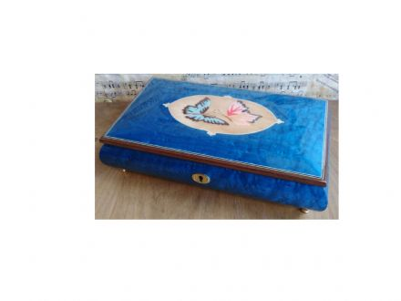 Ballerina Musical Jewellery Box Butterfly 46/BTC Blue